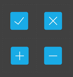 Colorful confirm icons set vector