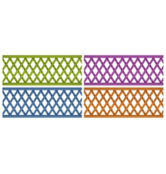 Colorful wooden fences vector