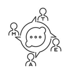 Communication concept symbol outline vector