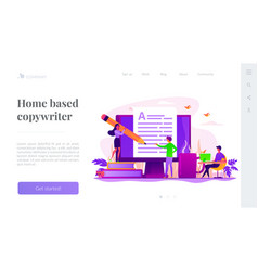 Copywriting landing page template vector