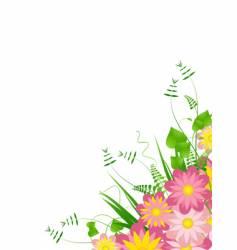 corner floral bouquet vector image