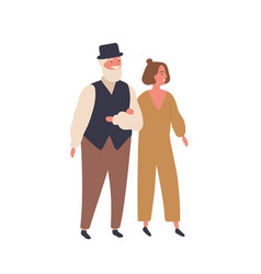 Couple with a big age difference flat vector