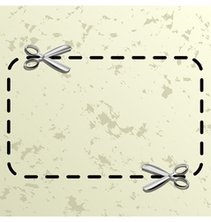 Coupon border vector image