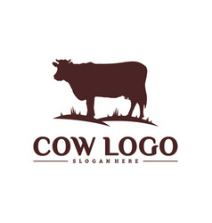 cow logo design concepts cow farm logo template vector image