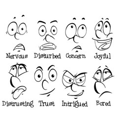 different facial expressions of human vector image