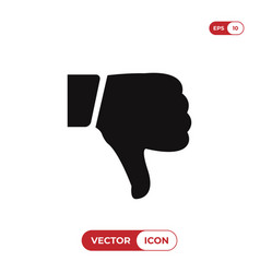 Dislike icon vector