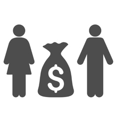 Family money deposit flat icon vector