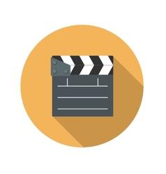 Flat Design Concept Cinema Slate Board Icon vector