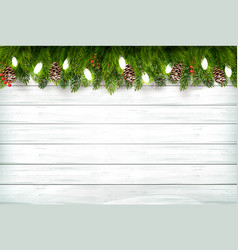 Holiday christmas background with branch tree vector
