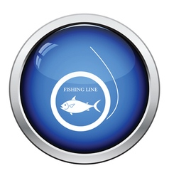Icon of fishing line vector image