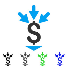 Integrate payment flat icon vector
