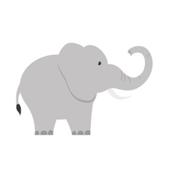 isolated elephant cartoon vector image