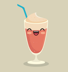 Kawaii smoothie icon vector
