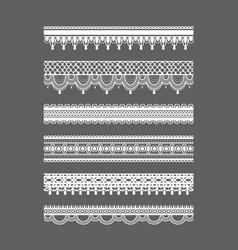 Lace borders seamless lace patterns vector