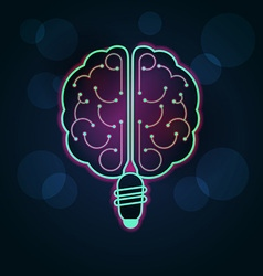 Light brain preview vector