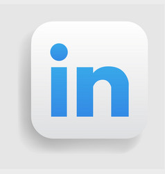 Linkedin logo icon vector