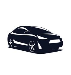 Logo car modern suv isolated on a white vector