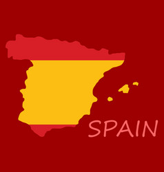 map of spain with national flag isolated on white vector image