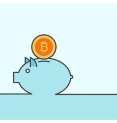 modern banking piggy background vector image