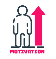 Motivation concept human chart icon business vector