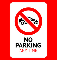 No parking modern sticker ready fo print vector