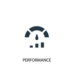 Performance icon simple element vector