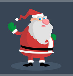 picture of a pretty santa who waves his hand vector image
