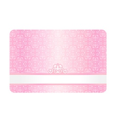 Pink Card with Vintage Pattern vector image