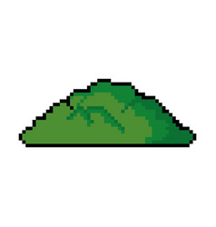 pixelated bush game icon vector image