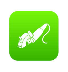 protect angle grinder icon green vector image