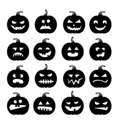 Pumpkins icons halloween pumpkin vector