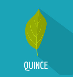 quince leaf icon flat style vector image