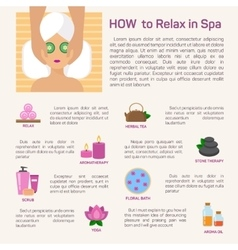relax in spa flat modern design vector image