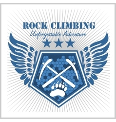 Rock climbing and mountain climbing vector image