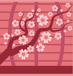 sakura japan cherry branch tree vector image