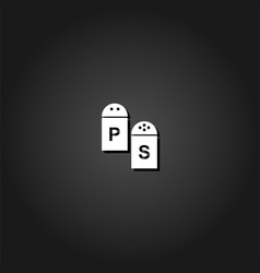 salt and pepper icon flat vector image