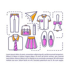 school college uniform article page template vector image