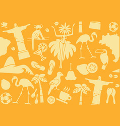 seamless background on a theme brazil vector image