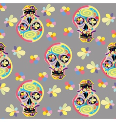 Seamless Skull pattern vector