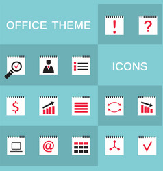set of 15 web icons for business office theme vector image