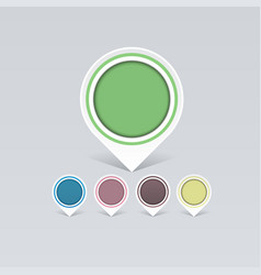 set of old colorful markers to your business ideas vector image