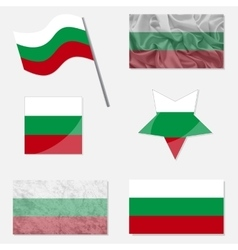 Set with Flags of Bulgarian vector image