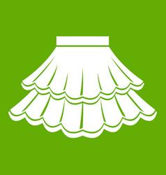 Skirt icon green vector