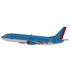 Sky blue jet airliner vector