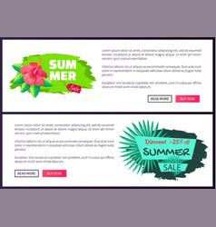 summer sale discount tag 25 off summertime emblem vector image
