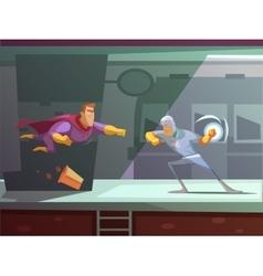 Superhero Retro Cartoon vector