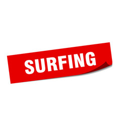 Surfing sticker surfing square sign surfing peeler vector