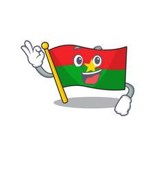 Sweet flag burkina faso cartoon character making vector