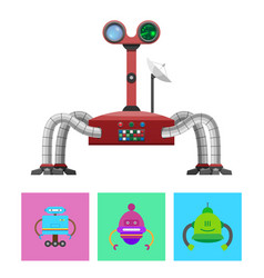 Technology and creatures set vector