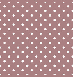 Tile pattern with white polka dots on pastel vector